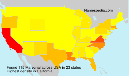Surname Marechal in USA