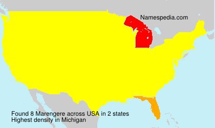 Surname Marengere in USA