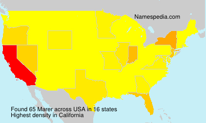 Surname Marer in USA