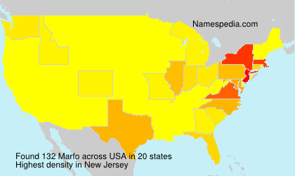 Surname Marfo in USA