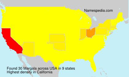 Familiennamen Margala - USA