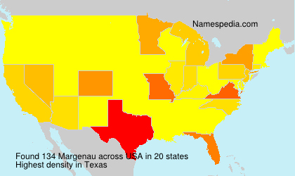Surname Margenau in USA
