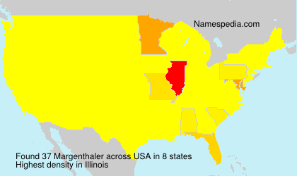 Surname Margenthaler in USA
