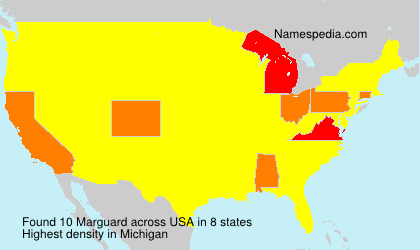 Surname Marguard in USA