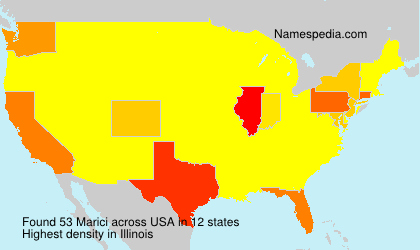 Surname Marici in USA