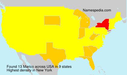 Familiennamen Marico - USA