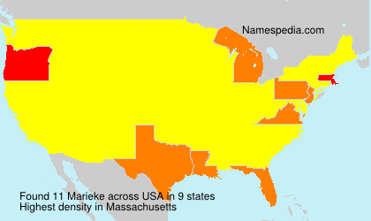 Surname Marieke in USA