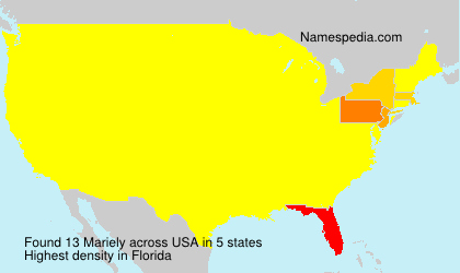 Surname Mariely in USA