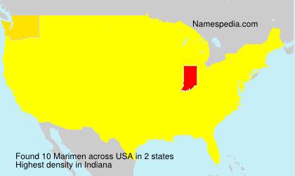 Familiennamen Marimen - USA