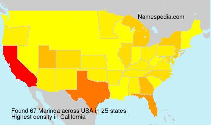Surname Marinda in USA