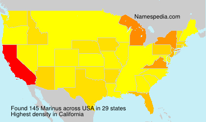 Surname Marinus in USA