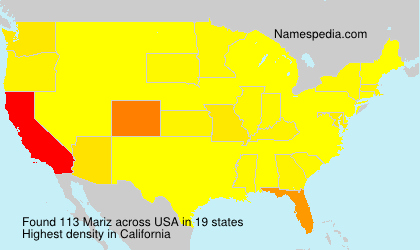 Surname Mariz in USA