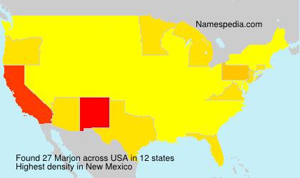 Surname Marjon in USA