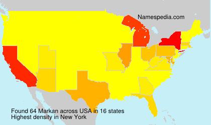 Familiennamen Markan - USA