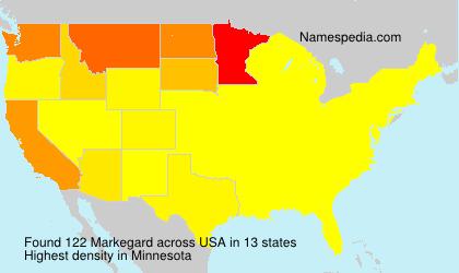 Familiennamen Markegard - USA