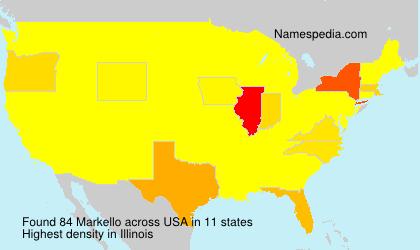 Surname Markello in USA