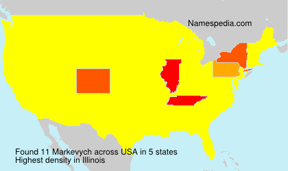Surname Markevych in USA
