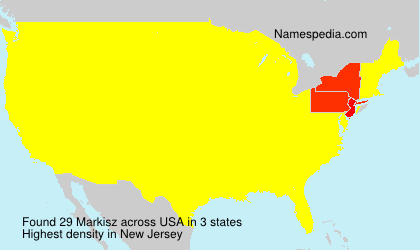 Surname Markisz in USA