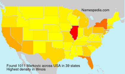 Surname Markovic in USA