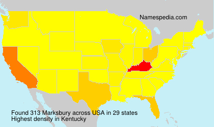 Familiennamen Marksbury - USA