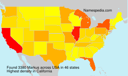Surname Markus in USA