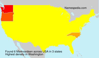 Surname Markvardsen in USA