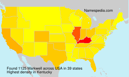 Surname Markwell in USA