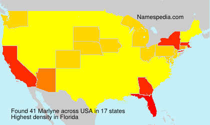 Surname Marlyne in USA