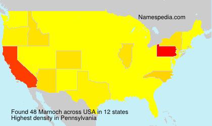 Familiennamen Marnoch - USA