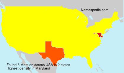 Familiennamen Marolen - USA