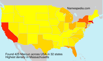 Surname Maroun in USA