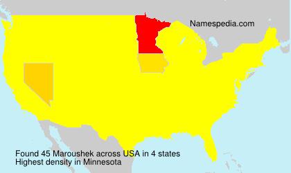 Surname Maroushek in USA