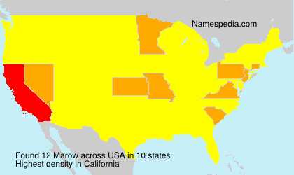 Surname Marow in USA