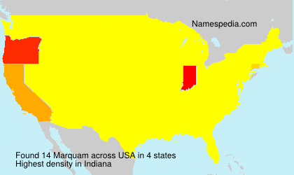 Surname Marquam in USA