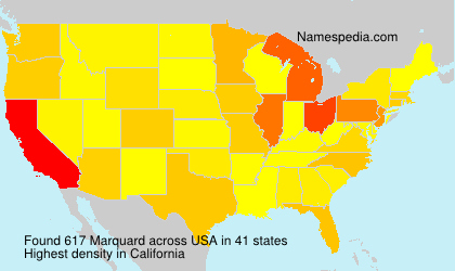 Surname Marquard in USA