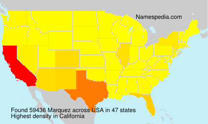Surname Marquez in USA