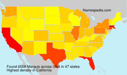 Surname Marquis in USA