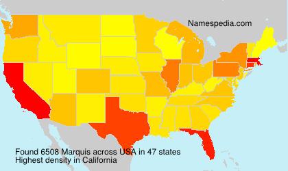 Familiennamen Marquis - USA