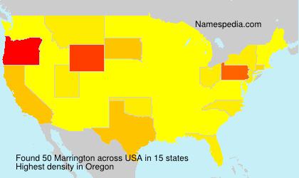 Surname Marrington in USA
