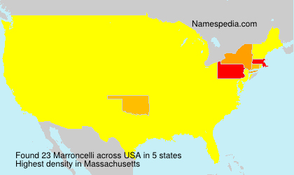 Surname Marroncelli in USA
