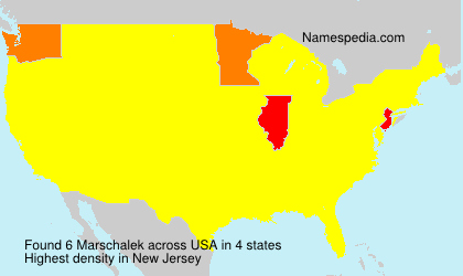 Surname Marschalek in USA