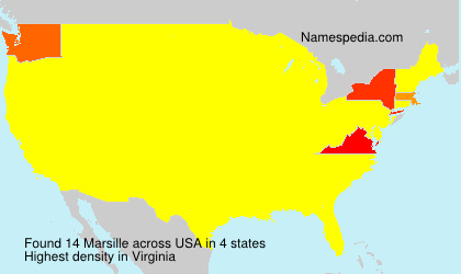 Surname Marsille in USA