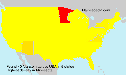Surname Marstein in USA