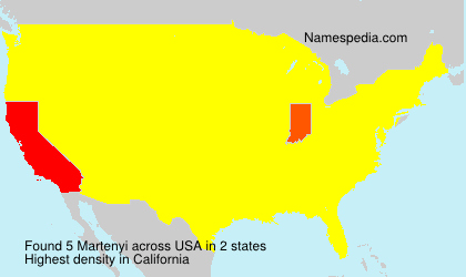 Surname Martenyi in USA