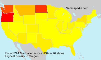 Surname Marthaller in USA