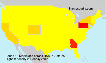 Surname Martinides in USA