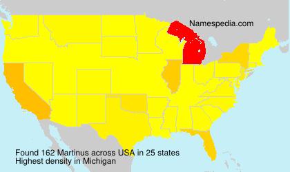 Familiennamen Martinus - USA