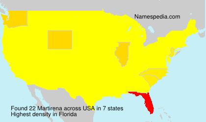 Surname Martirena in USA