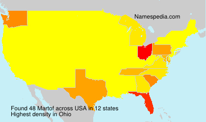 Surname Martof in USA