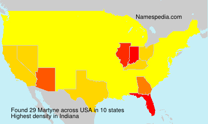 Surname Martyne in USA